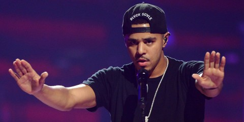 LAS VEGAS, NV - SEPTEMBER 20:  Recording artist J. Cole performs during the iHeartRadio Music Festival at the MGM Grand Garden Arena on September 20, 2013 in Las Vegas, Nevada.  (Photo by Ethan Miller/Getty Images for Clear Channel)