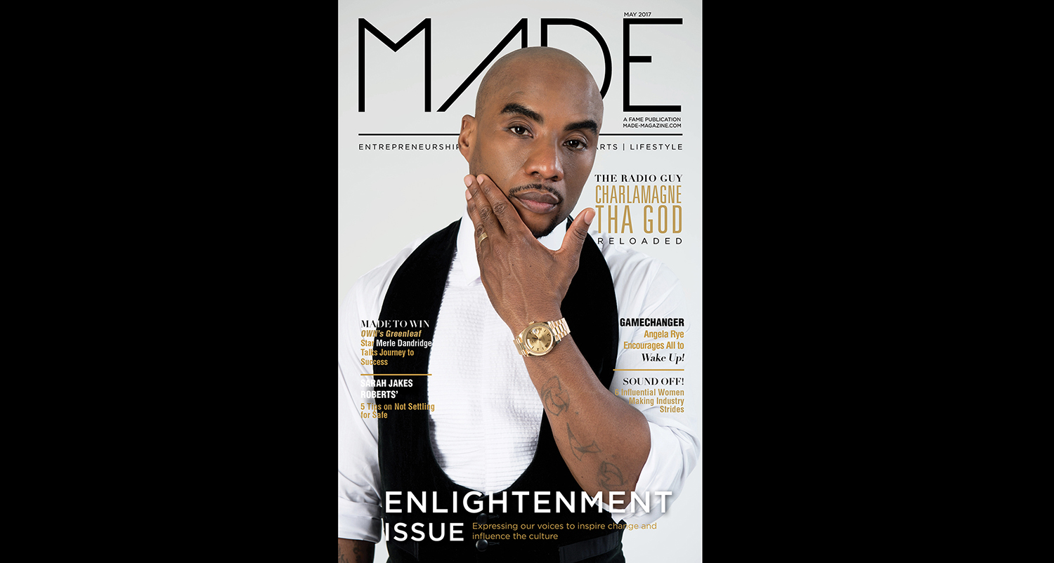 Charlamagne tha God covers the Enlightenment Issue of MADE