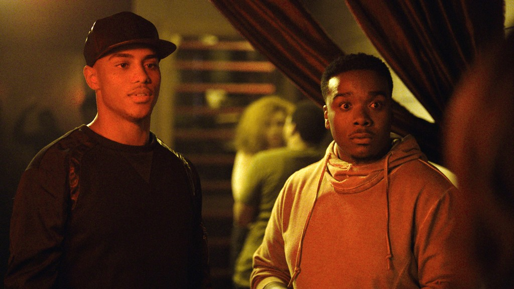 """Tales"" episode 103 - Cold Hearted. Keith Powers as Amari ""Gutta"" Anderson and Christian Robinson as Lil Tank. (Photo: BET)"