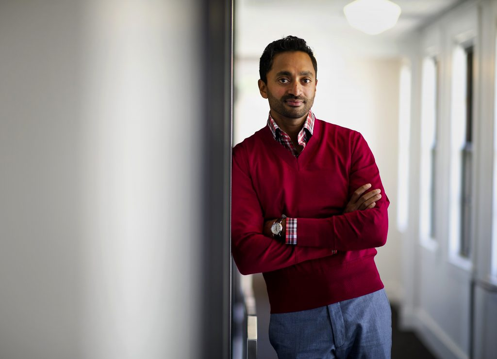 Chamath Palihapitiya, managing partner and founder of The Social+Capital Partnership, stands for a photograph after a Bloomberg West Television interview in San Francisco, California, U.S., on Tuesday, May 21, 2014. After a four-year career at Facebook Inc., where Palihapitiya worked on mobile products and expanded the company internationally, he left to form Social+Capital. Photographer: David Paul Morris/Bloomberg via Getty Images